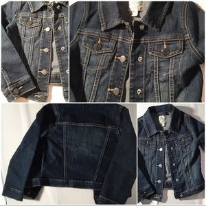 1989 PLACE KIDS JEAN JACKET S 5/6 GREAT CONDITION